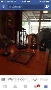 4 Lanterns and Tray all from Party-Lite