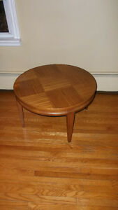Vintage Mid Century Round Retro Coffee Table Teak Chair $35 More
