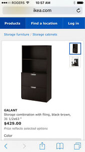 IKEA filing cabinet with hutch