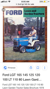 Wanted:77-84 Ford LGT 100-125-145 -165 garden tractor