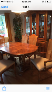 Just in time for Christmas, Dining Table and 6 Chairs for sale.