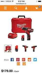 NEW MILWAUKEE M12 combo kit