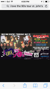 "4 tickets for ""I love the 90s"""