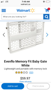 Evenflo memory fit baby gate