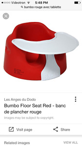 Bumbo chair with table - chaise bumbo avec tablette