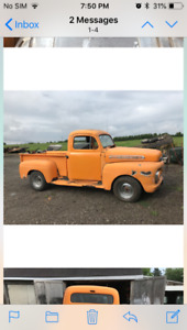 1951 Ford f1 pick up short bed
