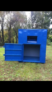 Metal Used Clothing Collection bins lightly used 17 to sell