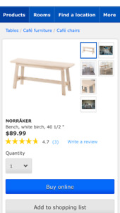 New in box Ikea Bench