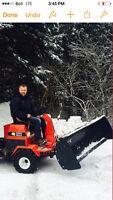 Tracteur Dompeuse + Pelle à Neige