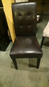 Brown Pleather Occasional Chair