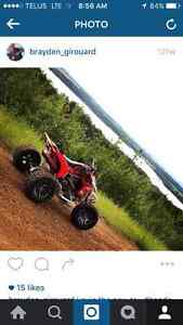 Trx450r trade for sled