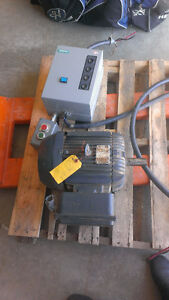 Used Electric Motor and Electrical Switch - 5 hp 220v 1 ph, TEFC