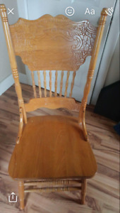 Solid Oak Table & Chair Set