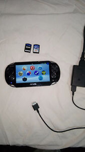 Good condition Vita 1000+two games+memory card for a 120 dollars