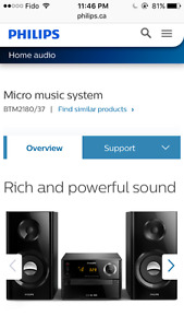 $100 Phillips micro music system