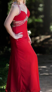 Red size 6 prom dress
