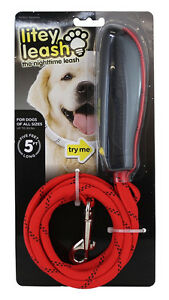 Litey Leash Nighttime Lighted Leash 5 Feet Long for Dogs up to 9
