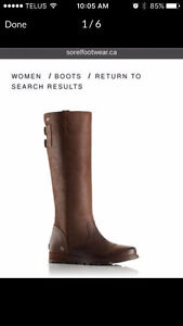 Sorel Women's Major Tall Leather Boots 10.5 BNIB REDUCED PRICE