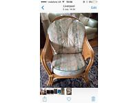 Large comfy conservatory summer house chair wicker