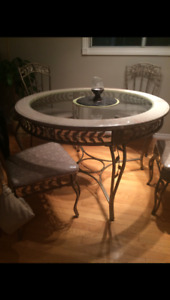 Marble dining table & matching sofa table