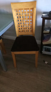 Set of six dining room chairs $90 obo