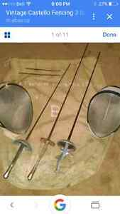 Fencing Swords and Masks