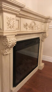 Antiqued Electric Fireplace