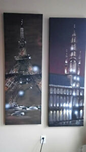 Large Gorgeous Paintings - 2 of Paris and London!
