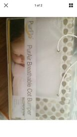 Purflo breathable cot bumper New in packer will post deliver