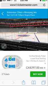 OILER Centre Lower Bowl Tickets!!