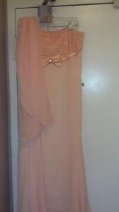 Peach Chifon Royal Dress - Bridesmaid/Bridal