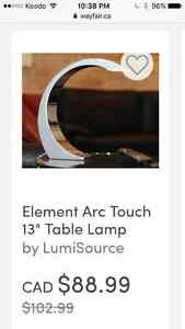 Chrome touch lamp