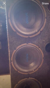Orion 3x12'' subwoofers with mtx Thunder amplifier