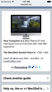 2011 27in iMac with Retina Display
