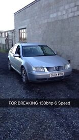 For parts only Bora 1.9tdi 130Bhp 6 speed