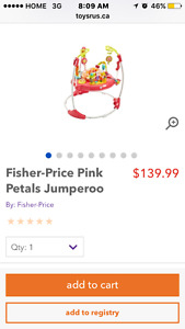Fisher price pink jumper saucer new