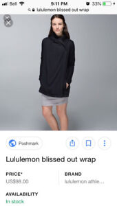 lululemon blissed out wrap