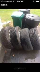 225/60/16 snow tires...  Reduced!!!  $300 Belleville Belleville Area image 3
