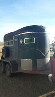 1978 Green Road Runner Two Horse Trailer.
