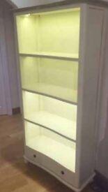 Cream wooden display unit