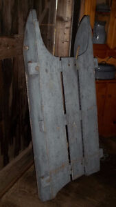 Wood Sled for ATV or Snowmobile