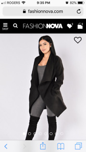 Fashion Nova- 2 manhattan coats both size 2x $40 cad/each