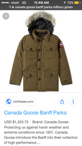 Canada Goose Mens Banff Parka Medium Dry Cleaned