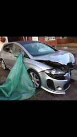 Seat Leon 1.6 Sports (Full FR Replica) Front end damage. £1,500 ONO