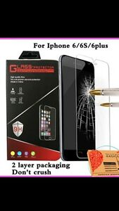 Tempered glass protectors for iPhone 6,6s, 6plus