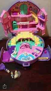 Vintage Polly Pockets complete with dolls, accessories & animals