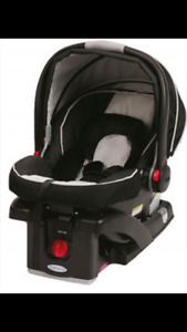 Two Graco SnugRide Click Connect 35 car seats and two bases