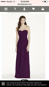 Strapless Chiffon Dress from David's Bridal - Worn Once