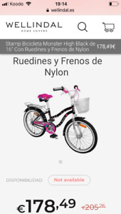 Bicyclette Monster high girls (7-10ans)