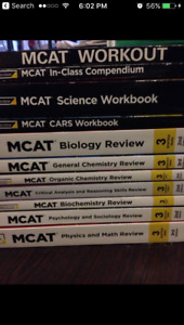 Complete Princeton Review MCAT Review Set - no highlights!